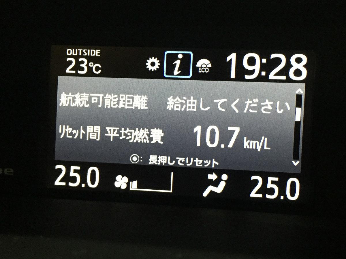 ヴォクシー 80 ガソリン車 実燃費